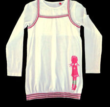 BNWOT Esprit Girl's Pink White Dress Tunic Smock Cotton Size 10