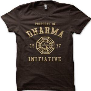 DHARMA Initiative 1977 TV series LOST printed t-shirt 8997