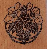 Motivstempel  rubber stamp Printart Jugendstil Ornament Blumen Mohn