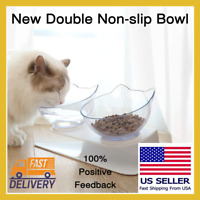 Brand New Double Single Non slip Bowl For Cat Dog Water Food Pet Bowls Stand US