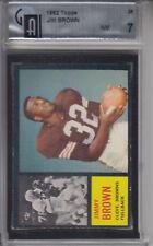 1962 Topps Card #28 Jim Brown BROWNS GAI 7 NM Z20531 - GAI NrMt 7