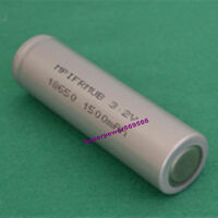 3.2V LiFePO4 IFR Li-ion 18650 battery 1500mAh high temperature energy type