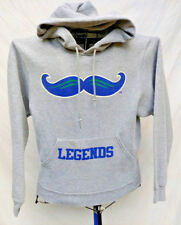 LEXINGTON LEGENDS MUSTACHE LOGO MINOR LEAGUE BASEBALL Sm GRAY HOODED SWEATSHIRT