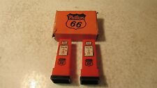 Old Phillips Oil Gas Pump Salt & Pepper Set  OB Weston Nebraska