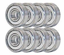 Skateboard Bearings 8-Pack Abec-7 8mm x 22mm x 7mm 608z 608-zz chrome steel