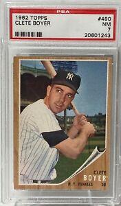 1962 Topps #490 Clete Boyer PSA NM 7 New York Yankees