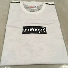 Supreme CDG Box Logo Tee XL Black/White S/S 2013 New
