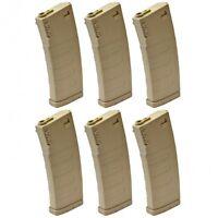 KWA M4 / M16 K120 Polymer 120 Rds Mid-Cap Airsoft Magazine Tan 6 Pack 197-04107
