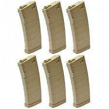 KWA M4 / M16 K120 Polymer 120 Rds Mid-Cap Airsoft Magazine Tan 6 Pack 197-04107
