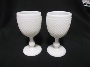 Vintage Hobnail Milkglass Gobblets