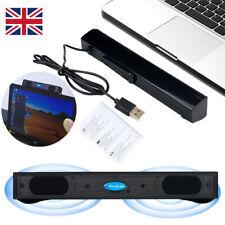 More details for  multimedia stereo speakers for desktop computer pc laptop long bar speaker.usb
