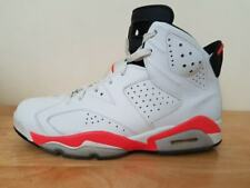 93f7c1a014ca Nike Air Jordan 6 Retro White Infrared Mens Basketball Shoes Trainers UK 9