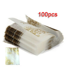 100 Pcs Self Seal Adhesive Opp Bag Golden Lace for Candies Cookies Wedding