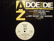 "AZ - DOE OR DIE (+RZA REMIX) (12"")  1996!!!  RARE!!!  RAEKWON + D.R. PERIOD!!!"