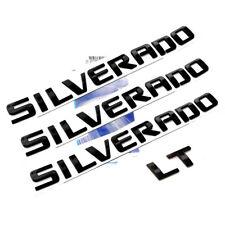 3x OEM Black SILVERADO Plus LT Emblems Badges 1500 2500HD F Chevrolet Glossy