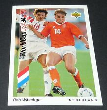 WITSCHGE FEYENOORD NEDERLAND FOOTBALL CARD UPPER DECK USA 94 PANINI 1994 WM94