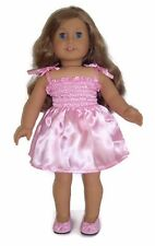 "Pink Satin Sun Dress made for 18"" American Girl Doll Clothes"