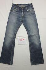 Lee Denver (Cod. D669) Tg.44  W30 L36  jeans usato ACCORCIATO vintage zampa.