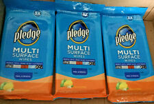 3 PKS 25 PRE-MOISTENED PLEDGE EVERYDAY CLEANER FRESH CITRUS MULTI SURFACE WIPES
