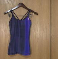 Lululemon Free To Be Tank Everlux Womens Size 4 Black Purple Yoga