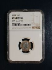 1903 Barber Dime NGC UNC SILVER 10C Coin PRICED TO SELL QUICKLY!