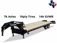 Brand New Texas Pride 8 1/2' x 30' (25'+5') Gooseneck Equipment Trailer 14k gvwr