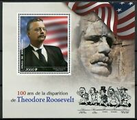 Theodore Roosevelt Stamps 2019 MNH 100th Memorial US Presidents People 1v S/S