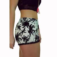 Summer Hot Pants Women Casual Beach floral Shorts High Waist Sporting Shorts New