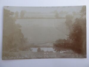 THE CAMP HOARWITHY HEREFORDSHIRE RPPC 1 EAST ST. HEREFORD YEOMANRY CAMP? FADED