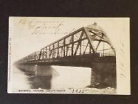 1905 Montreal to Boston Roxbury MA GTPR Bridge RPPC Real Picture Postcard Cover