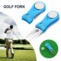 1PC Golf Divot Switchblade Tool Pitchfork Accessories For Repair w/ Ball Marker