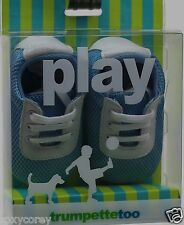Trumpette Too Infant Blue & White Tennis Sneakers Shoes Size 6-9 months NIB