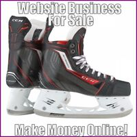ICE HOCKEY Website Earn $35.51 A SALE|FREE Domain|FREE Hosting|FREE Traffic