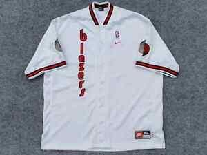 RARE VTG Early 00s NBA Portland Trail Blazer 1977 Nike Warm Up Shooting Shirt XL
