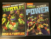 TMNT Teenage Mutant Ninja Turtles 2 DVD lot Rise of the Turtles Pulverizer Power