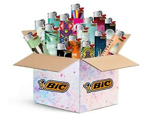 BIC Maxi Feuerzeuge - Top Motive - 5er/10er Mix-Paket - BIC J26 mit Reibrad