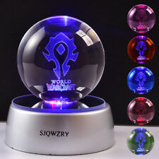 World of Warcraft The Hord Crystal Night Light Table Lamp Birthday Crafts Gift