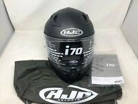 HJC i70 MOTORCYCLE HELMET FLAT BLACK MEDIUM