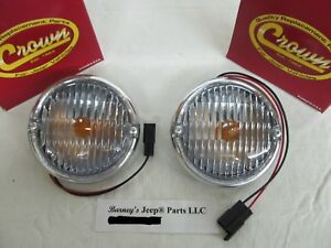FITS JEEP CJ5 CJ7 CJ8 FRONT SIGNAL PARKING LAMP 1976 1/2 - 1986 PAIR  5752771 !