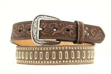 Ariat BULLET BELT ~Crack Leather Silver Buckle Concho~ WESTERN  Cowboy A10126 20