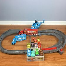 Disney Pixar Cars Mack Track Challenge Lot HTF Motorized Racetrack Diecast Set