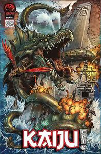 Kaiju Epic! #1 Cover D Opochtli Matt Frank Hutchison Big Dog Ink th3