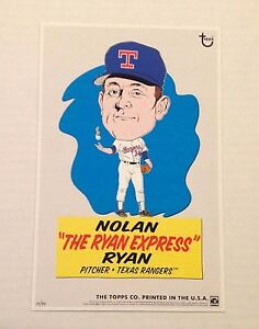 NOLAN RYAN Express Rangers #ed/99 Made 2014 Topps MLB illustrations 5x7 .75 card