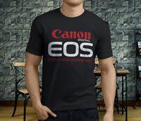 New Popular Canon Eos professional Camera Graphic Men's Black T-Shirt S-3XL