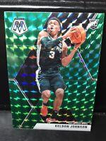 2019-20 Panini Mosaic Green PRIZM #238 Keldon Johnson RC San Antonio Spurs