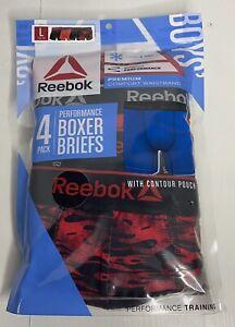 NEW! Reebok Boys Size L 12/14 Performance Boxer Briefs 4-pack comfort waistband