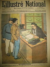 L'ILLUSTRé NATIONAL N° 7 HUMOUR CARICATURE DESSINS GOTTLOB BLONDEAU 1903