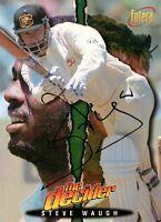 ✺Signed✺ 1995 1996 AUSTRALIA Cricket Card STEVE WAUGH The Decider