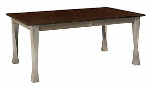 Amish Dining Table Transitional Modern Twist Leg Rectangle Solid Wood Lexington
