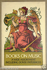 Music Muse By Dover Press Vintage Original Poster from 1930s-1940s